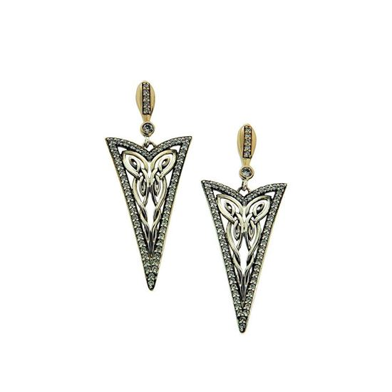 Keith Jack - PEX8994-CZ Butterfly Earrings