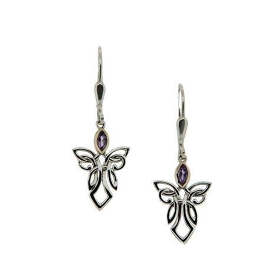 Keith Jack - PEX7849 Angel Earrings - Amethyst