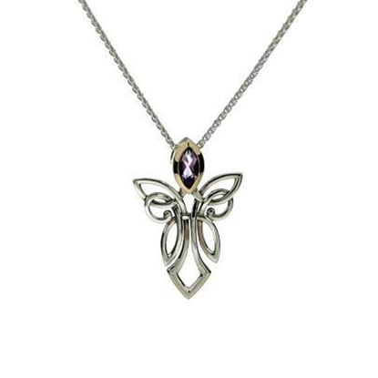 Keith Jack - PPX7848 Angel Pendant - Amethyst