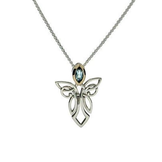 Keith Jack - PPX7848 Angel Pendant - Blue Topaz