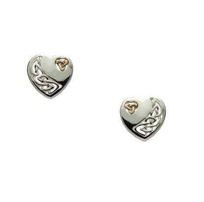 Keith Jack - PEX3641 Celtic Heart Earrings