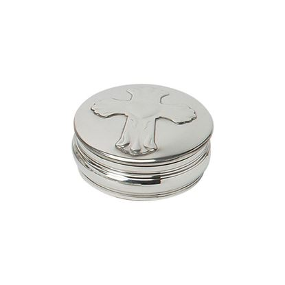 Embossed Cross Trinket Box - 50mm