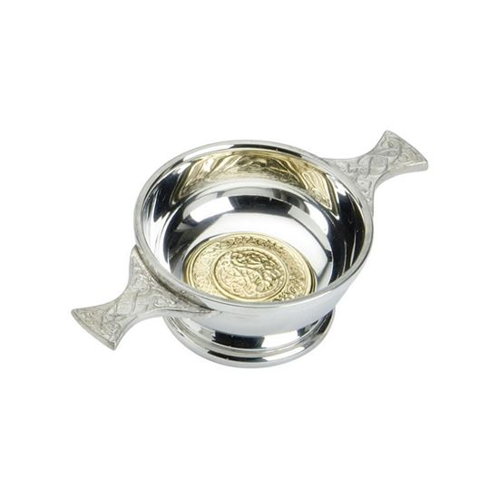 Brass Celtic Quaich - 2 inch diameter