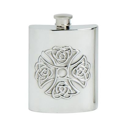 Celtic Cross Hip Flask - 6oz