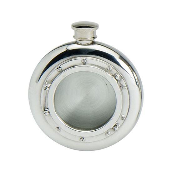 Port Hole Round Hip Flask - 6oz