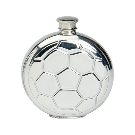 Football Round Hip Flask - 6oz