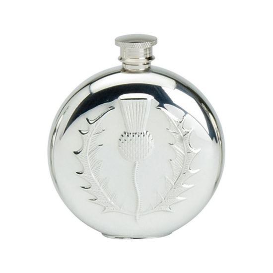 Thistle Round Hip Flask - 6oz