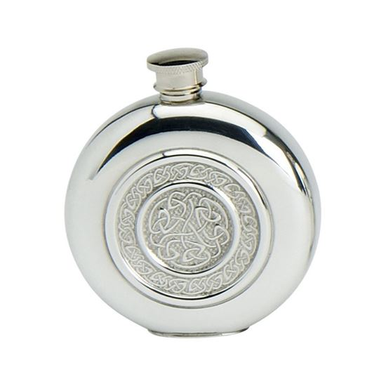 Celtic Rope Round Hip Flask - 6oz