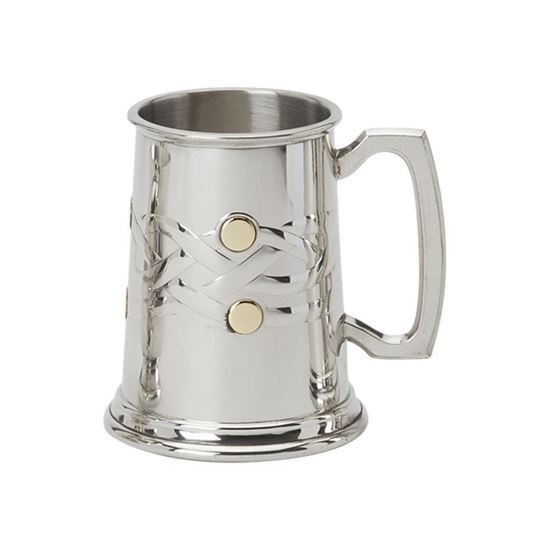 Celtic Knot & Brass Inlay Tankard - 1 Pint