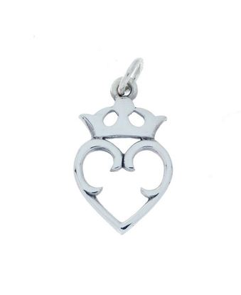 Hebridean Luckenbooth Charm - Silver