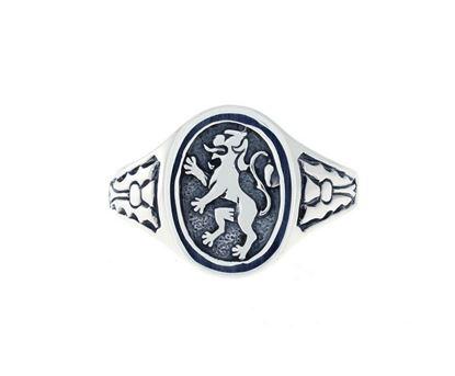 Lion Rampant Signet Ring - Silver