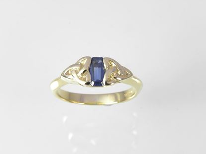 Trinity Sapphire Ring - 9ct Yellow Gold