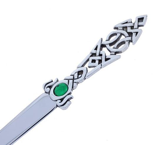 Celtic and Green Stone Letter Opener
