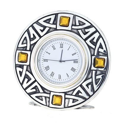 Celtic Clock with yellow stones