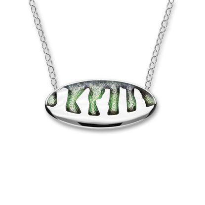 Ortak - Ring of Brodgar Necklet (enamel shown in Northern Lights)