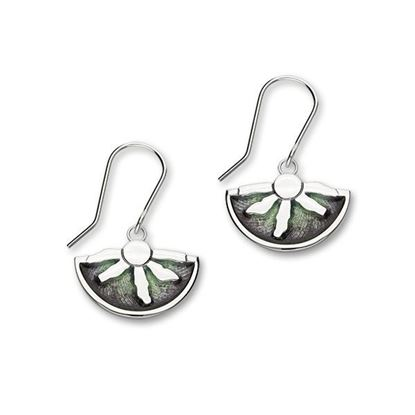 Ortak - Rinf of Brodgar Earrings (enamel colour shown in Northern Lights)