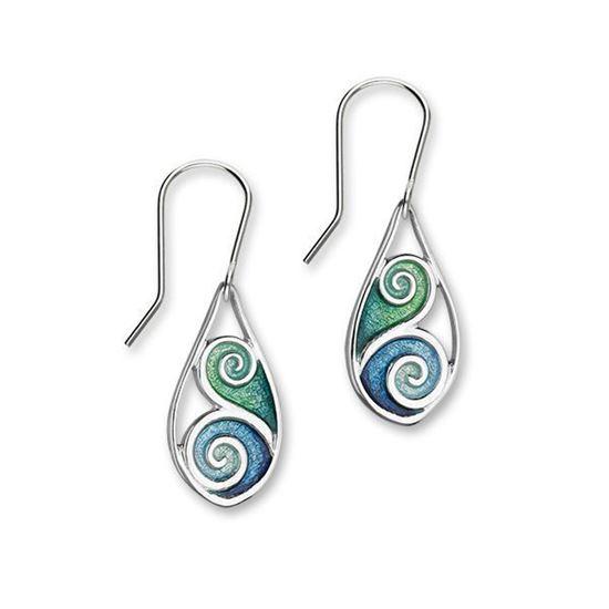 Ortak - Tranquility Earrings (enamel colour shown in Waterfall/Tundra)