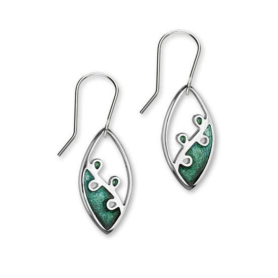 Ortak - Tranquility Earrings (enamel colour shown in Prairie/Meadow)