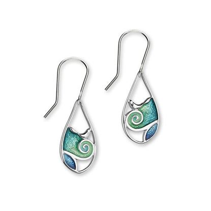 Ortak - Tranquility Earrings (enamel colour shown in Waterfall/Tundra)