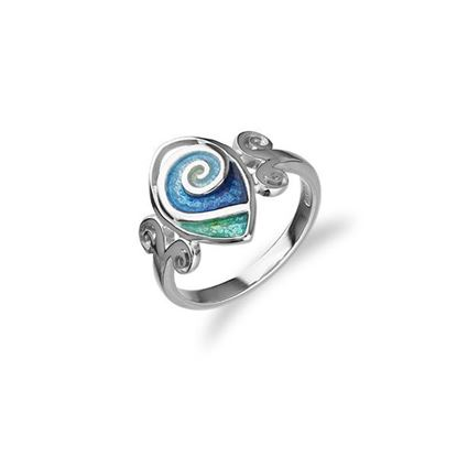 Ortak - Tranquility Ring (enamel colour shown in Waterfall/Tundra)