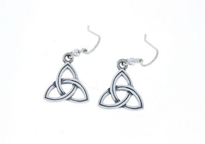 Hebridean - Celtic Trinity Earrings - Silver