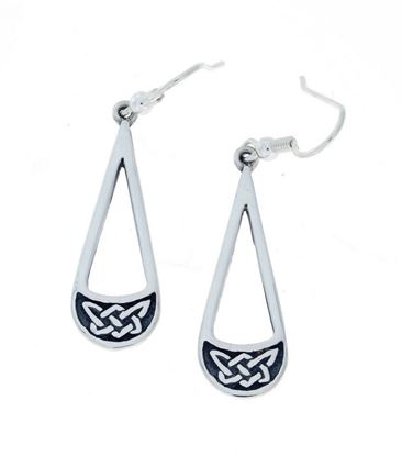 Hebridean - Celtic Earrings - Silver