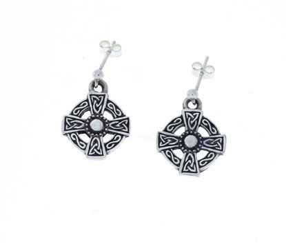 Hebridean - St. Martins Cross Earrings - Silver