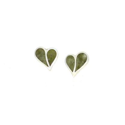 Sellors - Iona Marble Split Heart Studs