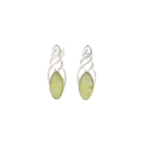 Sellors - Iona Marble Celtic Marquise Earrings