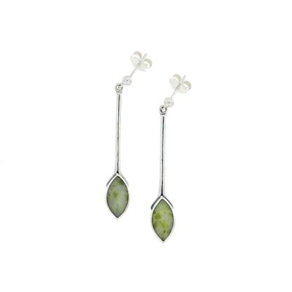 Sellors - Iona Marble Long Marquise Earrings