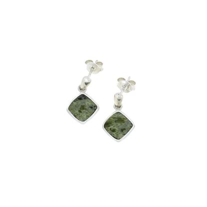 Sellors - Iona Marble Cushion Drop Earrings