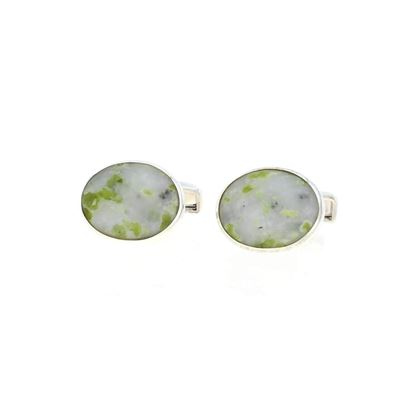 Sellors - Iona Marble Oval Cufflinks