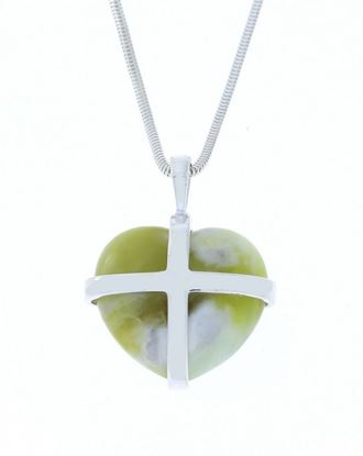 Sellors - Iona Marble Large Cross Heart Pendant