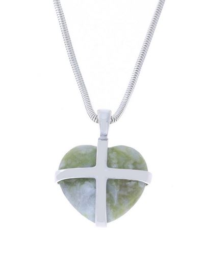 Sellors - Iona Marble Medium Cross Heart Pendant