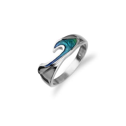 Ortak - Simply Stylish Ring (enamel colour shown in Mangrove)