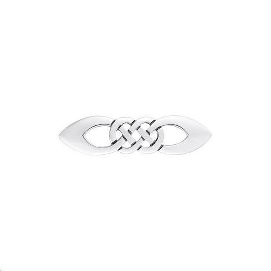 Sheila Fleet - Lovers Knot Brooch - Silver