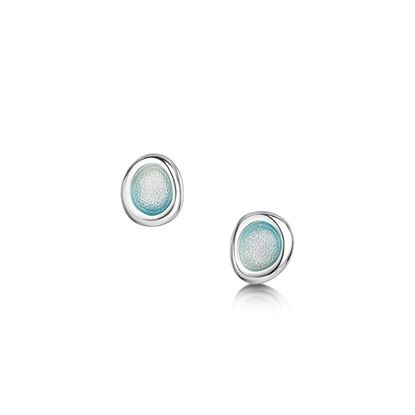 Sheila Fleet - Arctic Stream Earrings (enamel colour Artic Blue)