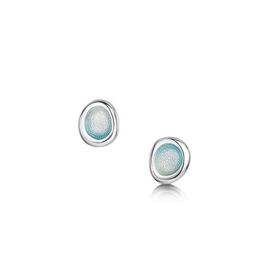Sheila Fleet - Arctic Stream Earrings (enamel colour Artic Blue)