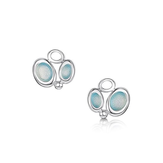 Sheila Fleet - Arctic Stream Earrings (enamel colour shown in Arctic Blue)