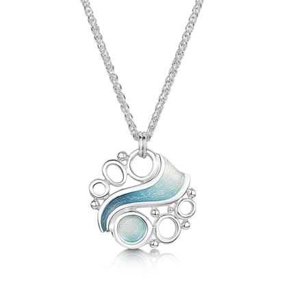 Sheila Fleet - Arctic Stream Pendant (enamel colour shown in Arctic Blue)