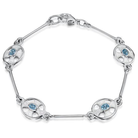 Sheila Fleet - ESBL246 (enamel colour shown in Crystal with Blue Topaz)