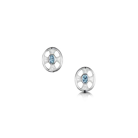 Sheila Fleet - ESE00246 (enamel colour shown in Crystal with Blue Topaz)