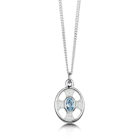 Sheila Fleet - ESP246 (enamel colour shown in Crystal with Blue Topaz)