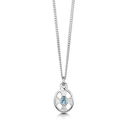 Sheila Fleet - ESP0246 (enamel colour shown in Crystal with Blue Topaz)