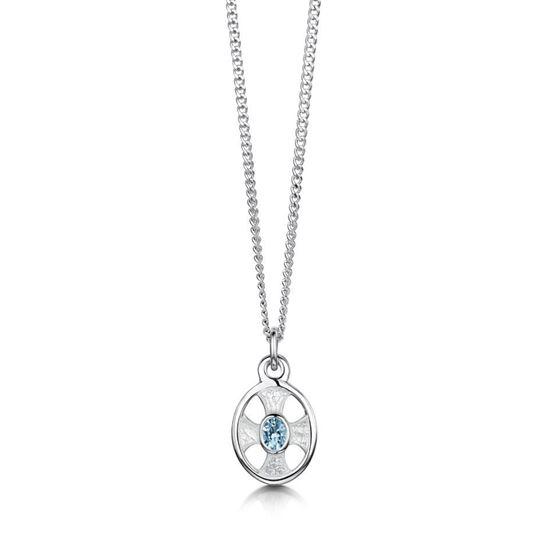 Sheila Fleet - ESP0246 (enamel colour shown in Crystal with Blue Topaz)