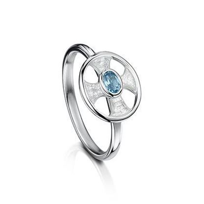 Sheila Fleet - ESR0246 (enamel colour shown in Crystal with Blue Topaz)