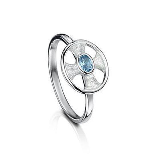 Sheila Fleet - ESR0246 (enamel colour shown in Crystal with Blue Topaz)