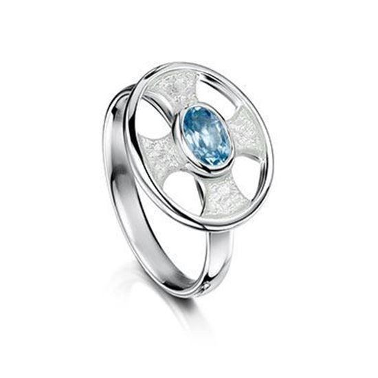 Sheila Fleet - ESR246 (enamel colour shown in Crystal with Blue Topaz)