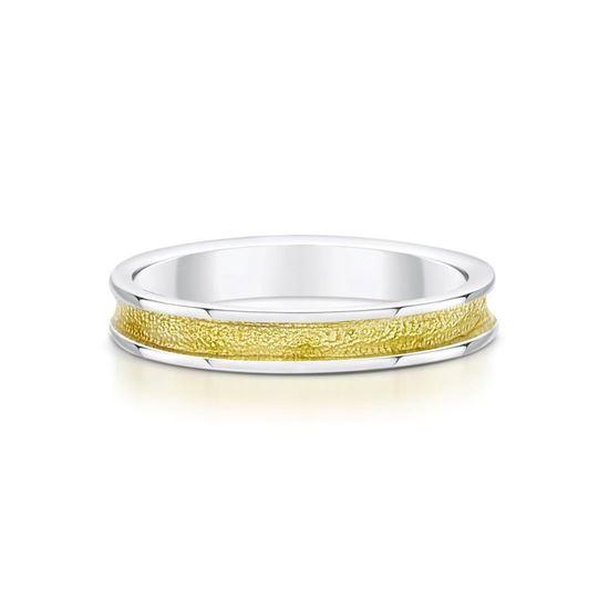 Sheila Fleet - Halo Ring (enamel colour shown in Yellow)