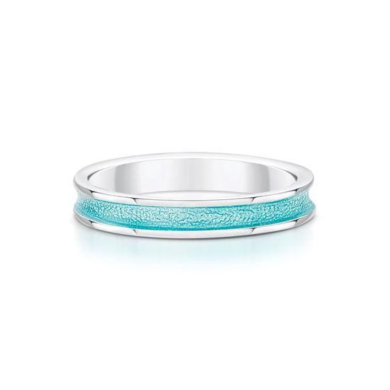 Sheila Fleet - Halo Ring (enamel colour shown in Green)
